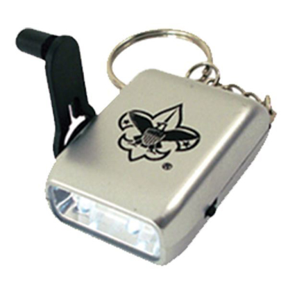 Picture of Mini Dual LED Dynamo Flashlight w/ Keyring & BSA® Branding