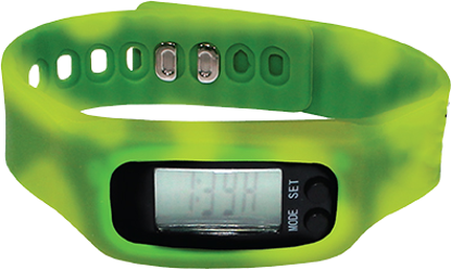 Picture of Color Changing Watch Pedometer - Green/Yellow